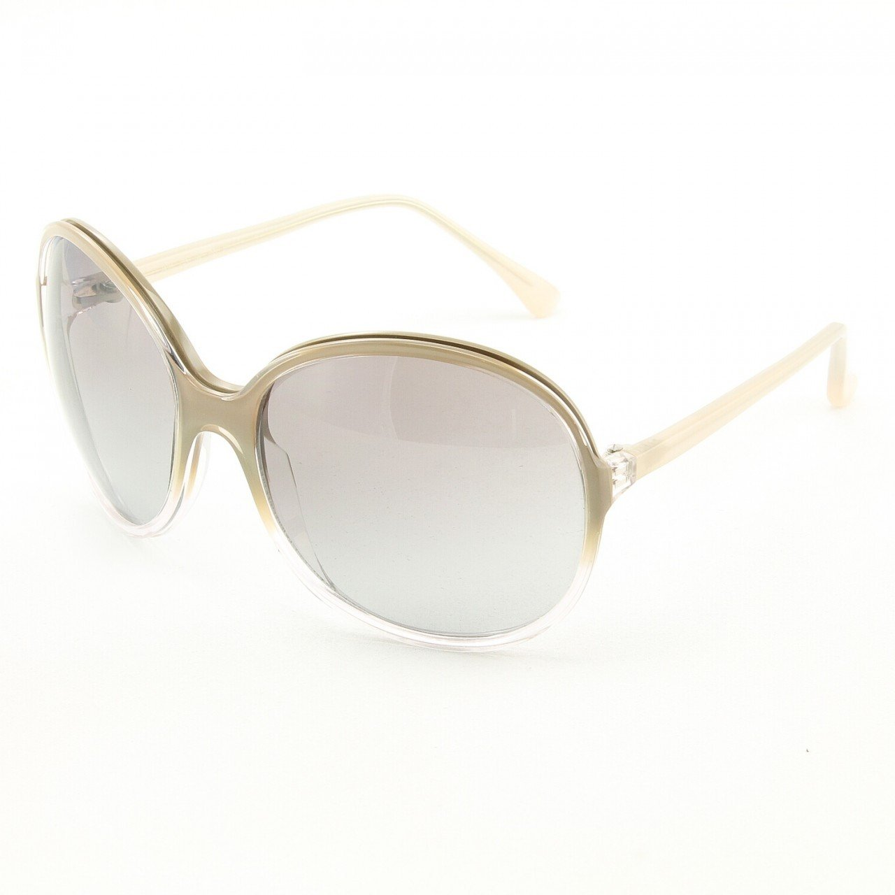 Marni MA165S Sunglasses Col. 10 Oversized Cream and Clear Frame with Gray Gradient Lenses