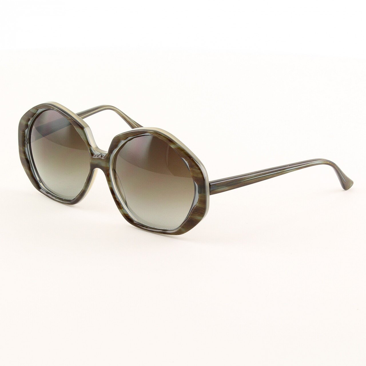 Marni MA157 Sunglasses Col. 05 Oversized Olive Brown Tortoise with Brown Lenses