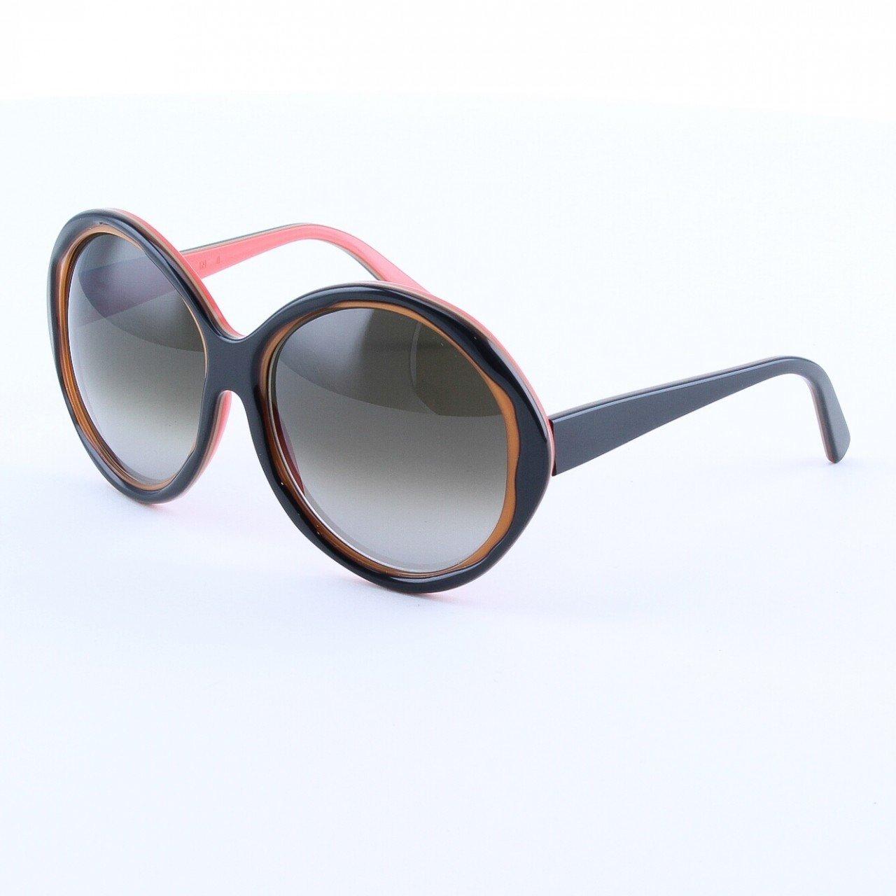 Marni MA156 Sunglasses Col. 03 Dark Chocolate Brown and Tan with Brown Lenses
