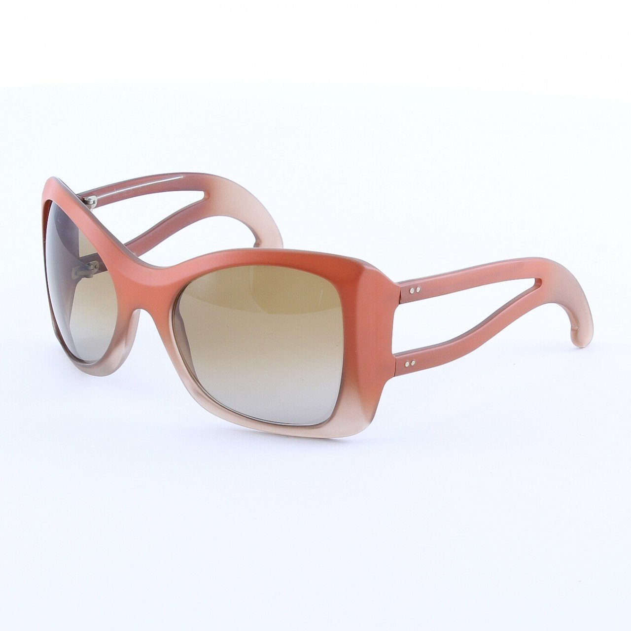Marni MA150S Sunglasses Col. 01 Opaque Frosted Salmon with Brown Lenses
