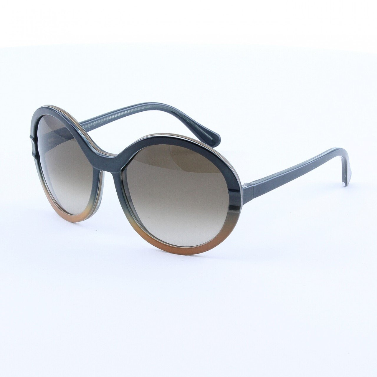 Marni MA145 Sunglasses 05 Deep Charcoal Gray Light Tan, Gray Gradient Lenses
