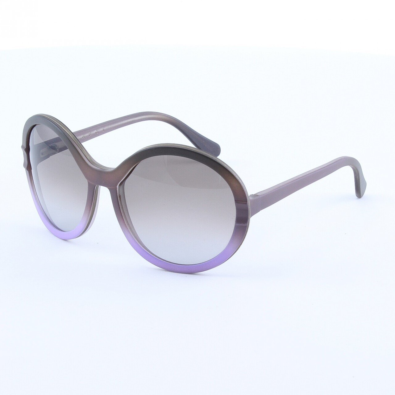 Marni MA145 Sunglasses Col. 03 Frosted Gray Lavendar w/ Decorative Accent with Gray Gradient Lenses