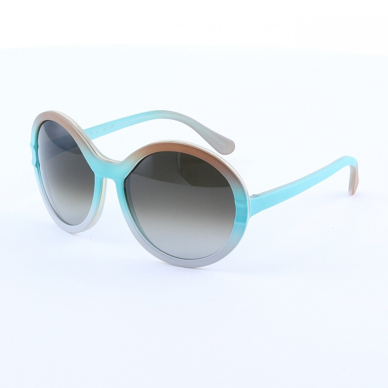 Marni MA145 Sunglasses Col. 02 Frosted Taupe Turqoise Light Pink with Brown Gradient Lenses