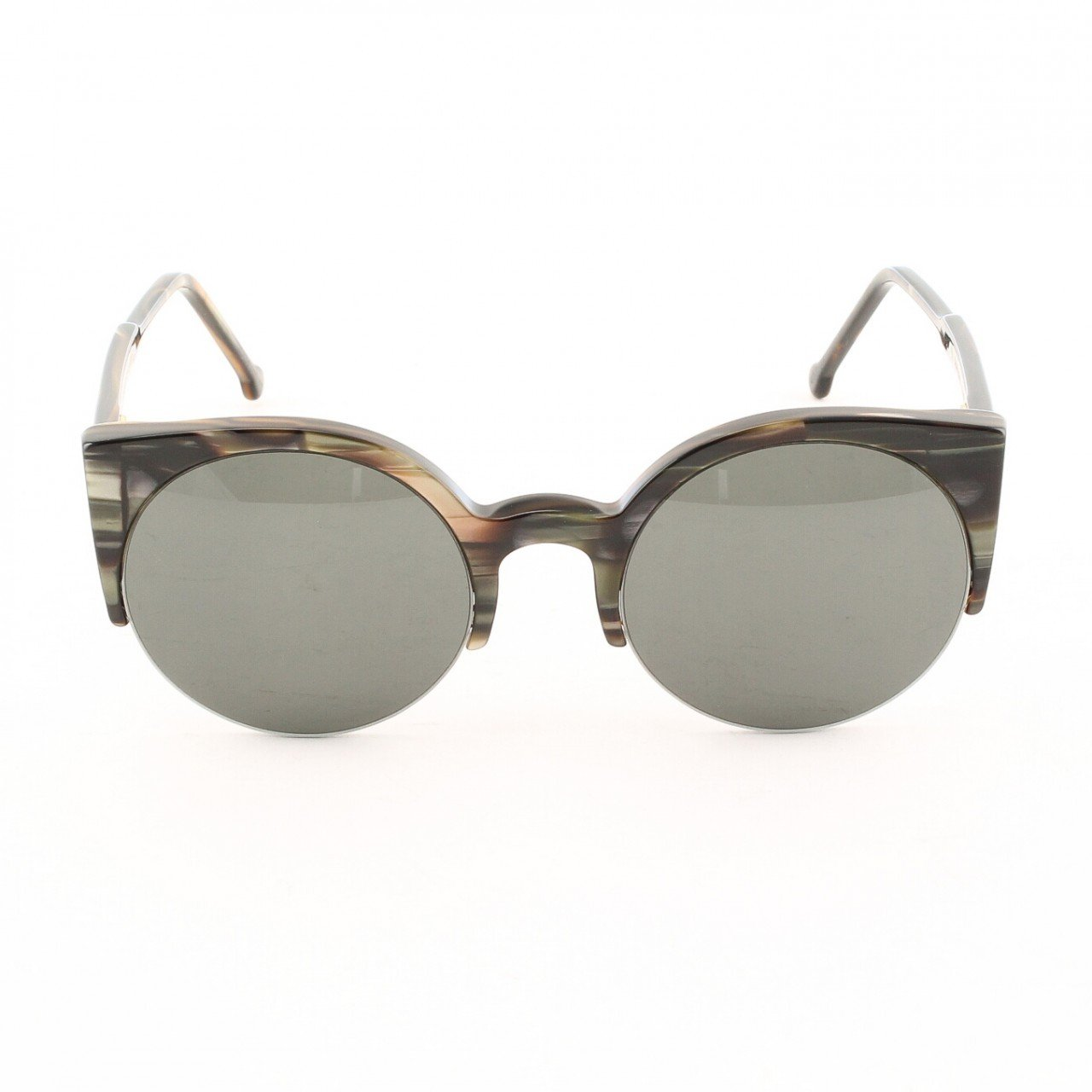 Super Lucia 407 Sunglasses Womens Psychedelic Horn with Grey Zeiss Lenses by RETROSUPERFUTURE