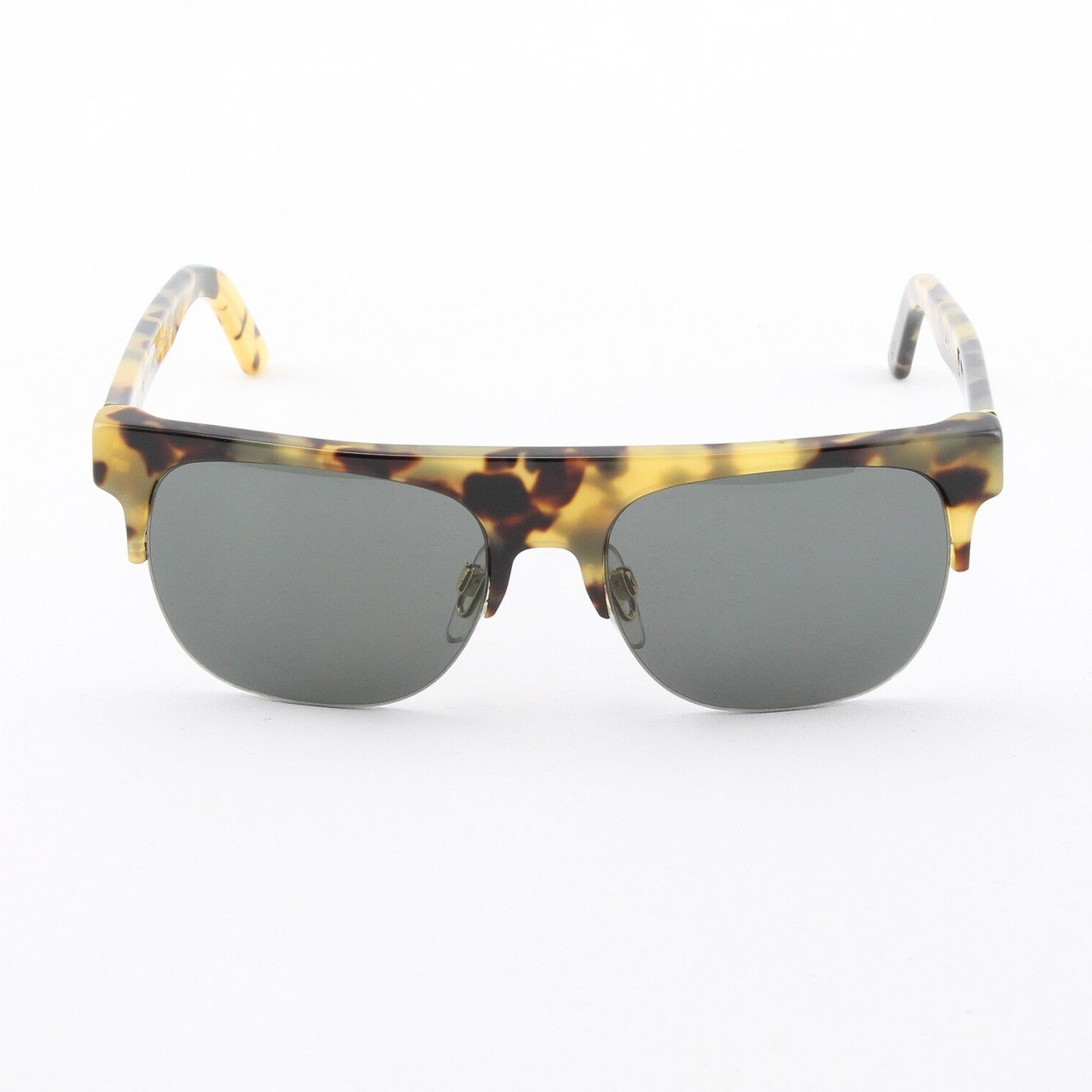 Super Andrea 267 Sunglasses Cheetah Frame with Black Zeiss Lenses by RETROSUPERFUTURE