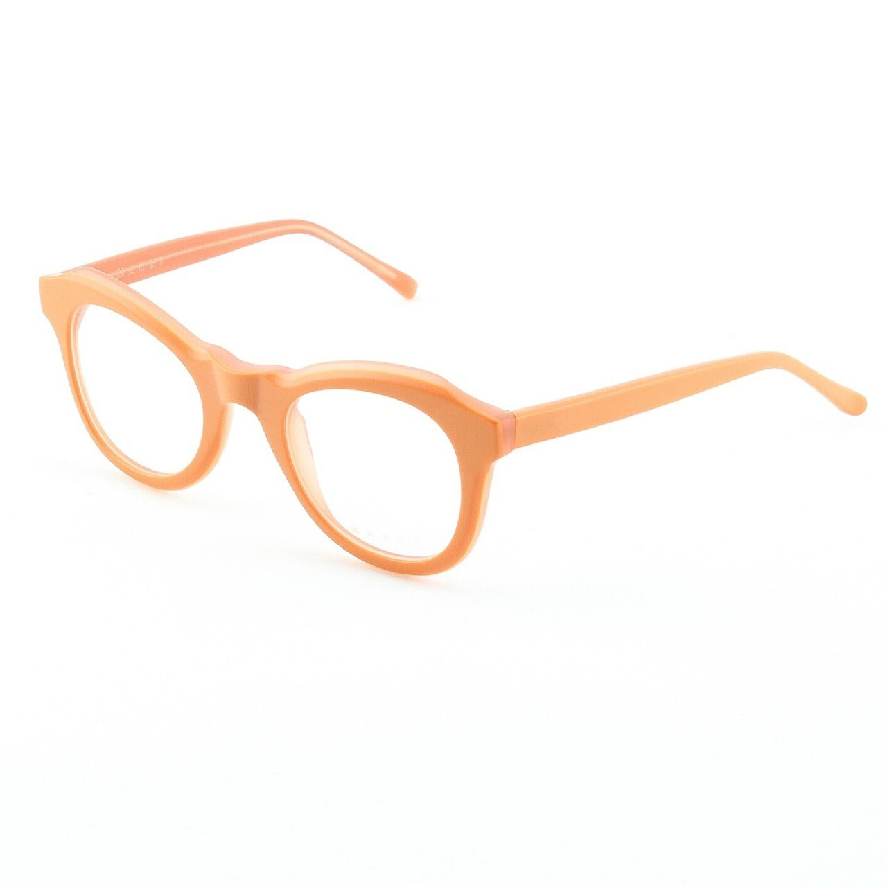 Marni MA699 Eyeglasses Col. 04 Frosted Orange with Clear Lenses