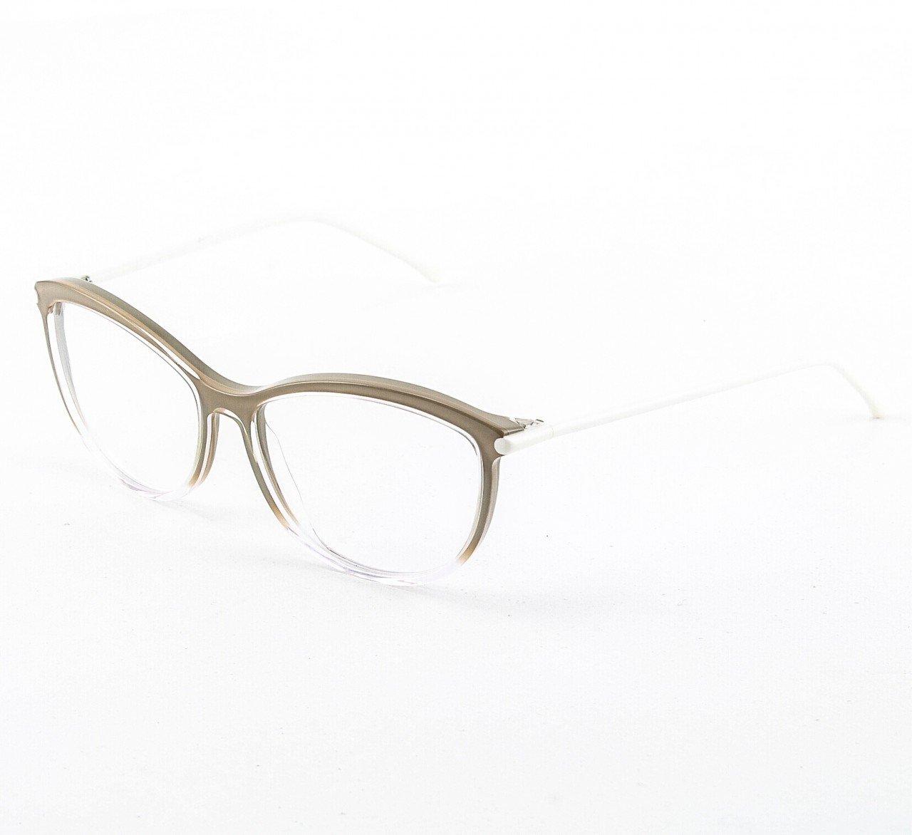 Marni MA677S Eyeglasses 03 Crystal Taupe, White Enamel Accents, Demo Lenses