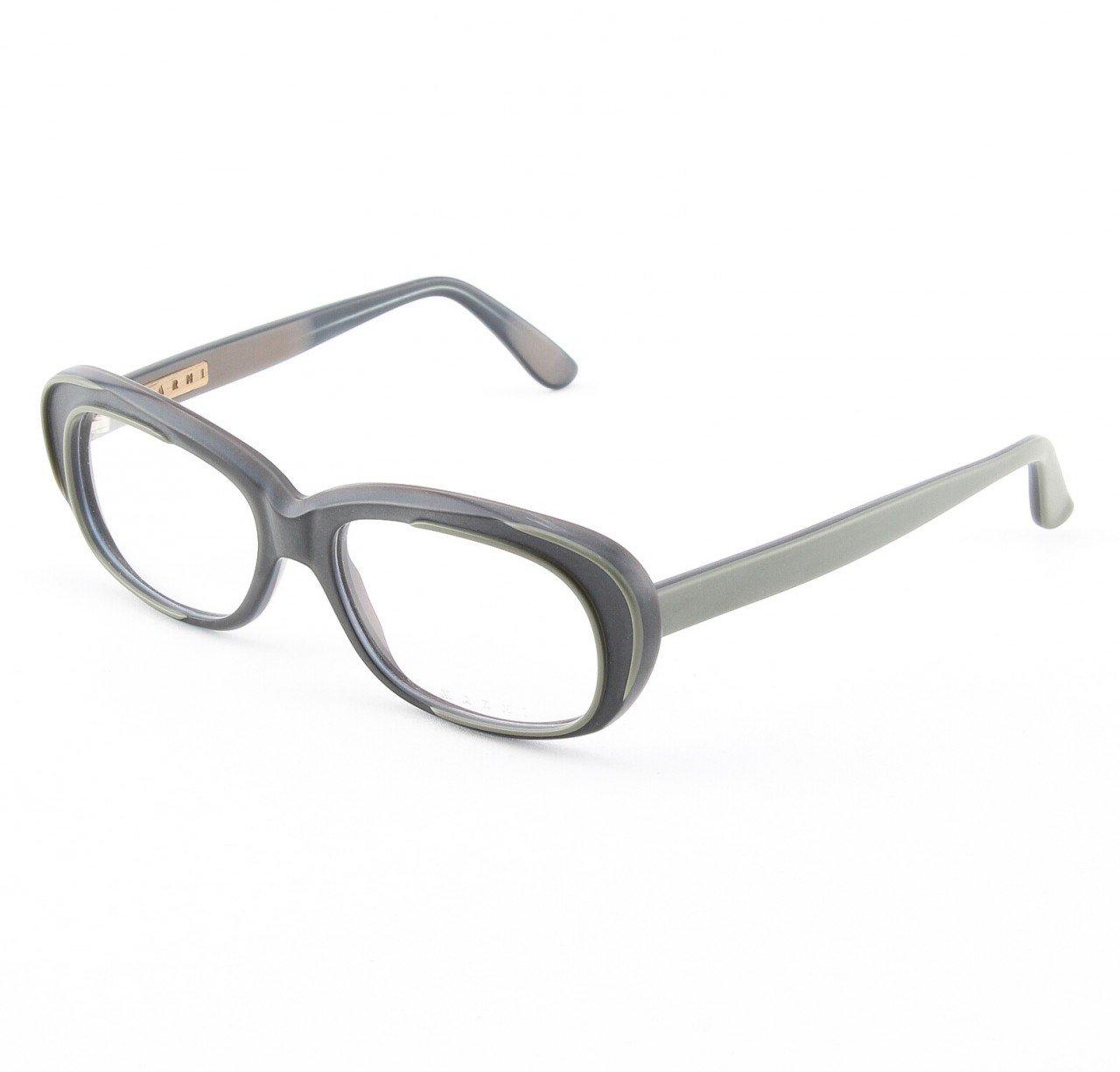 Marni MA670S Eyeglasses 01 Opaque Graphite Gray with Gray Trim, Demo Lens