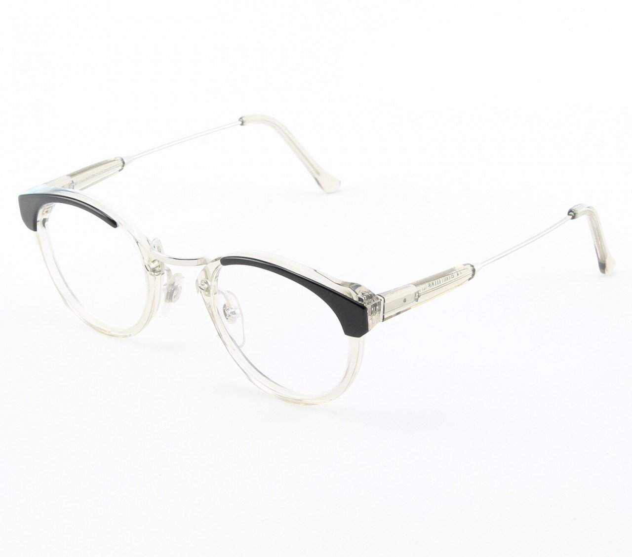 Super Panama 955/0A Eyeglasses Black Gray Crystal with Clear Zeiss Lenses by RETROSUPERFUTURE