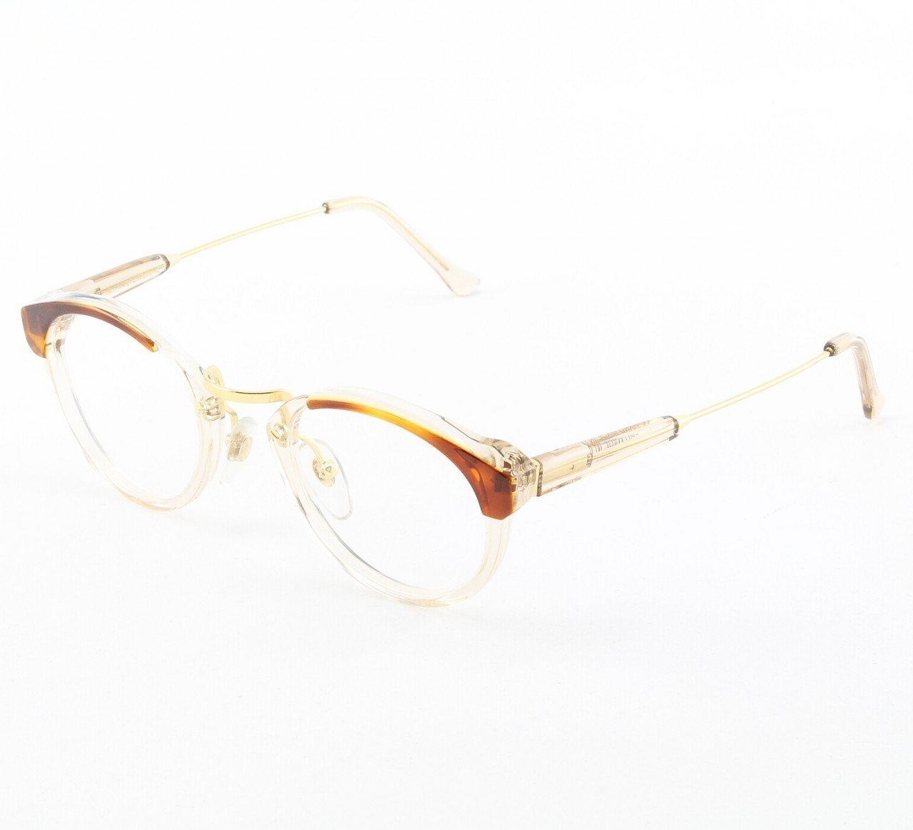 Super Panama 962 Eyeglasses Brown Crystal with Clear Zeiss Lenses by RETROSUPERFUTURE