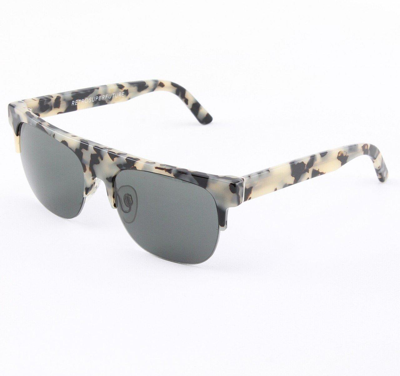 Super Andrea 266/2 Sunglasses Puma Black with Grey Zeiss Lenses by RETROSUPERFUTURE