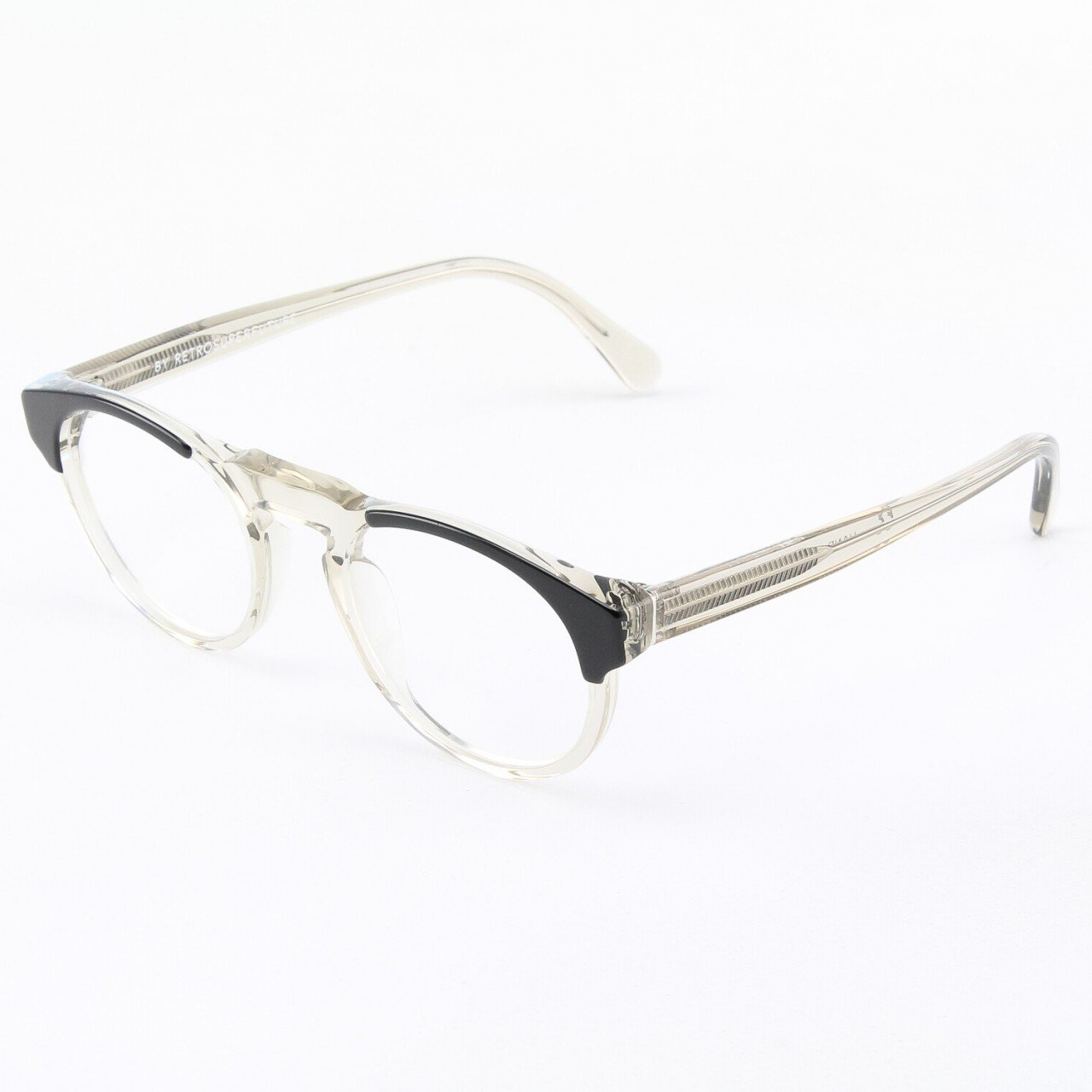 Super Paloma 954/0T Eyeglasses Black Grey with Clear Zeiss Lenses by RETROSUPERFUTURE