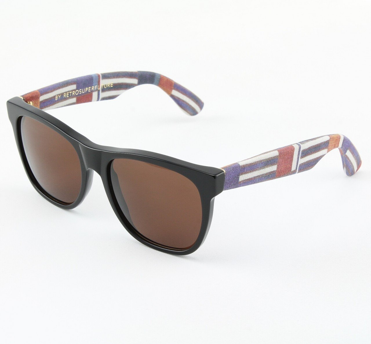 Super Classic 799/3T Sunglasses Fabric Pattern with Black Zeiss Lenses by RETROSUPERFUTURE