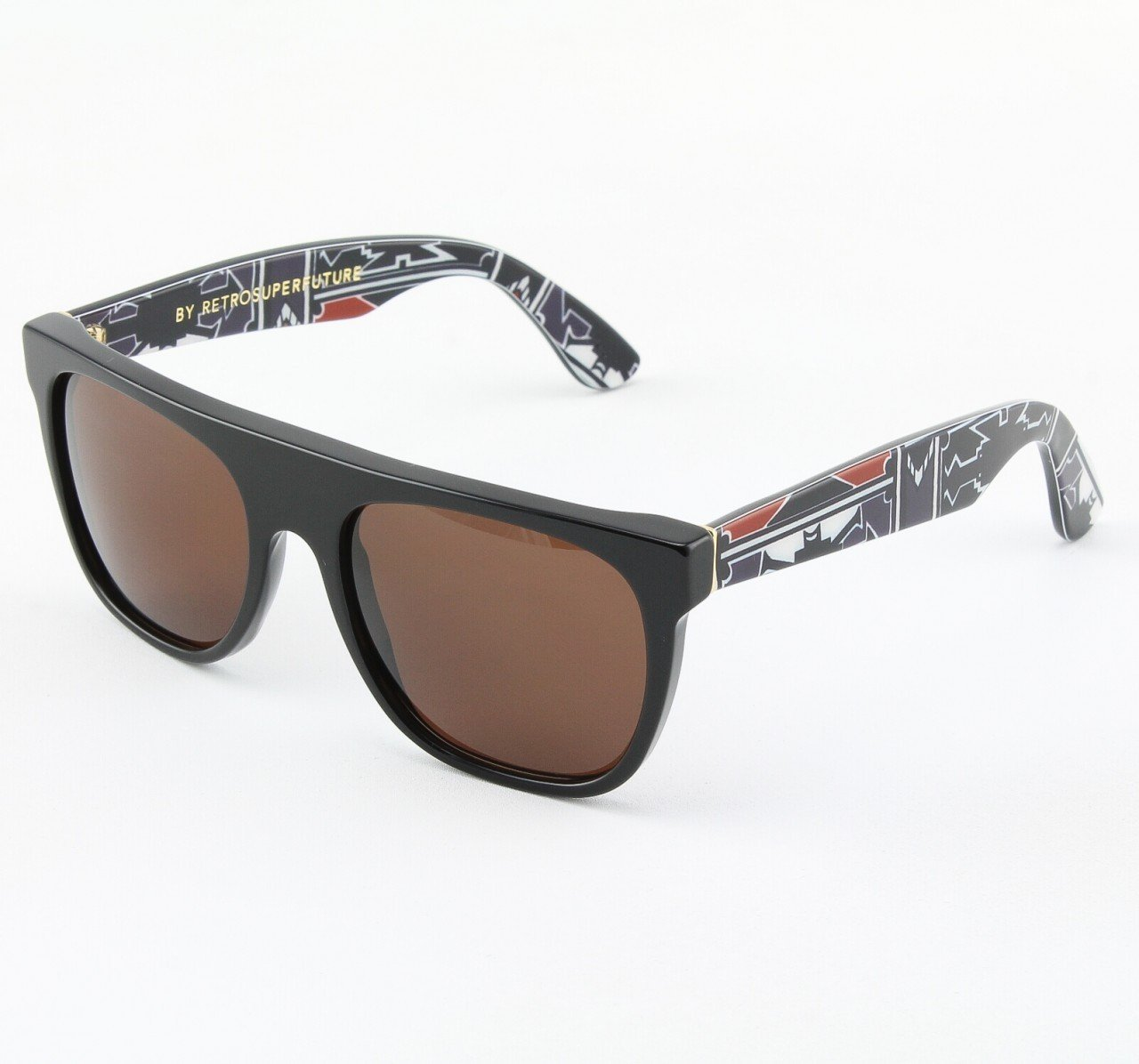 Super Flat Top 788/3T Sunglasses Burgandy with Black Zeiss Lenses by RETROSUPERFUTURE