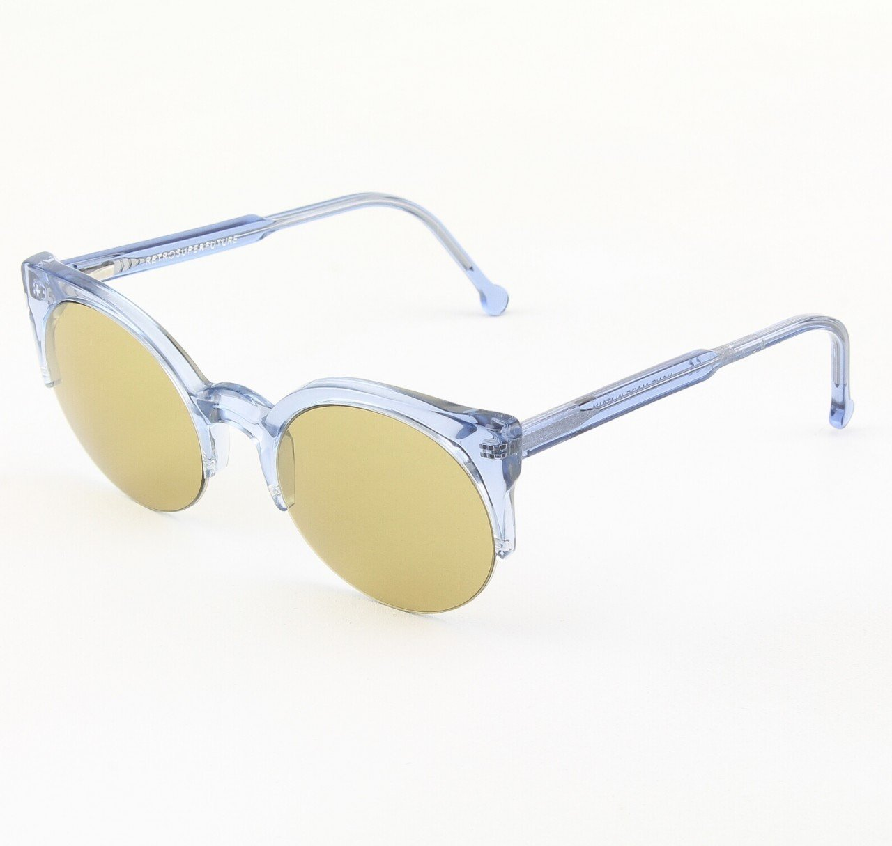 Super Lucia 572/2 Sunglasses Blue Crystal with Yellow Zeiss Lenses by RETROSUPERFUTURE