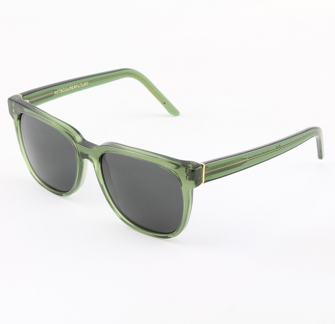 Super People 356/3T Sunglasses Crystal with Grey Zeiss Lenses by RETROSUPERFUTURE