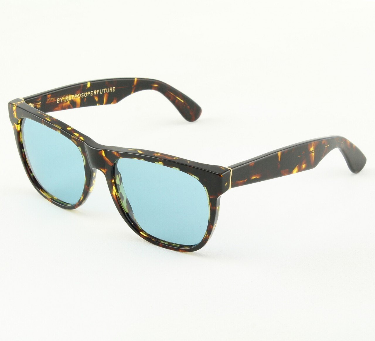 Super Classic 785/2T Sunglasses Golden with Blue Zeiss Lenses by RETROSUPERFUTURE