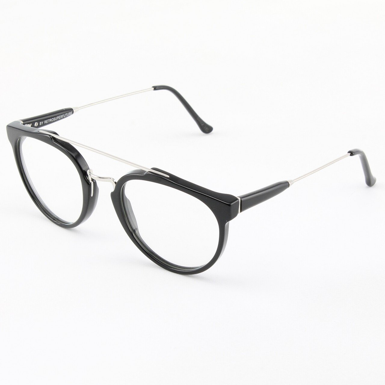 Super Giaguaro 618/0A Eyeglasses Silver with Clear Zeiss Lenses by RETROSUPERFUTURE