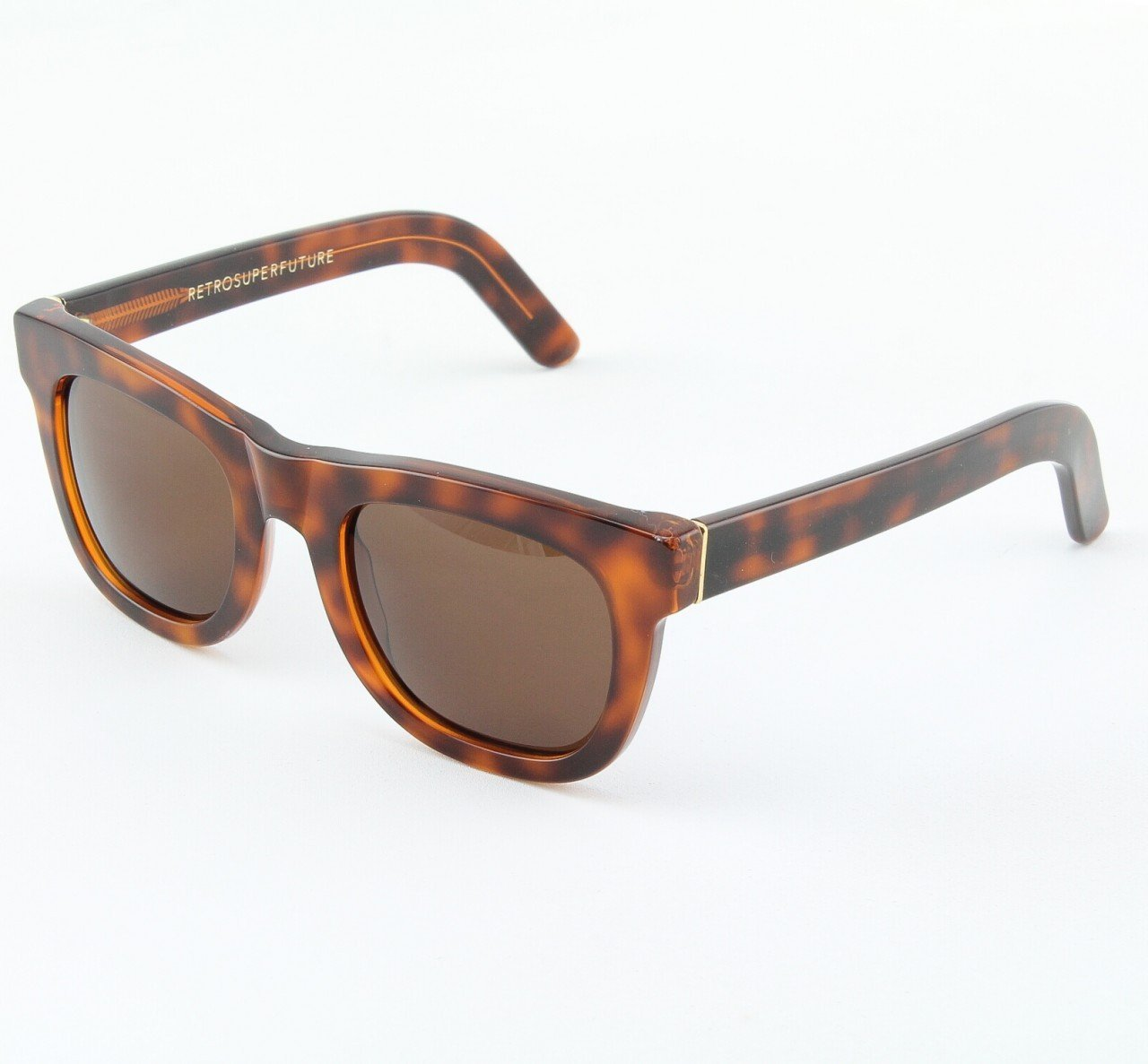 Super Ciccio 187/3A Sunglasses Classic Havana with Brown Zeiss Lenses by RETROSUPERFUTURE