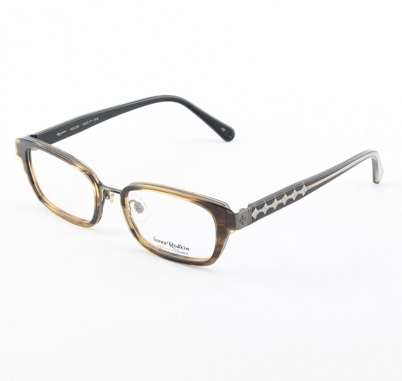 Loree Rodkin Megan Eyeglasses Tortoise w/ Clear Lenses, Plastic Inserts and Decorative Temple Core