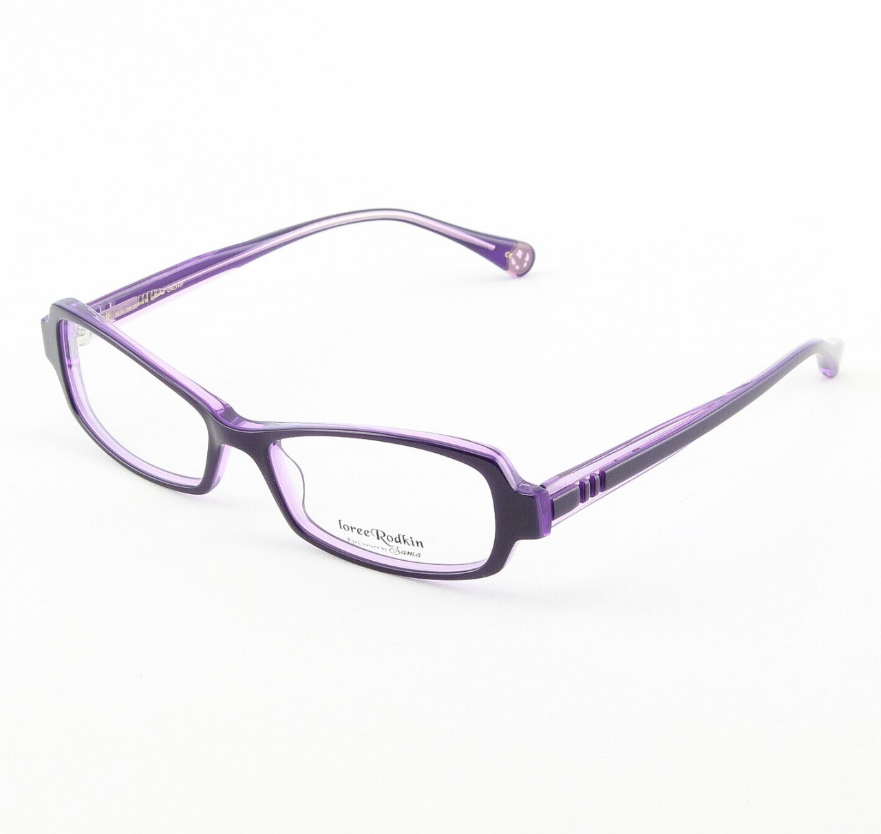 Loree Rodkin Isla Eyeglasses by Sama Col. Orchid with Clear Lenses