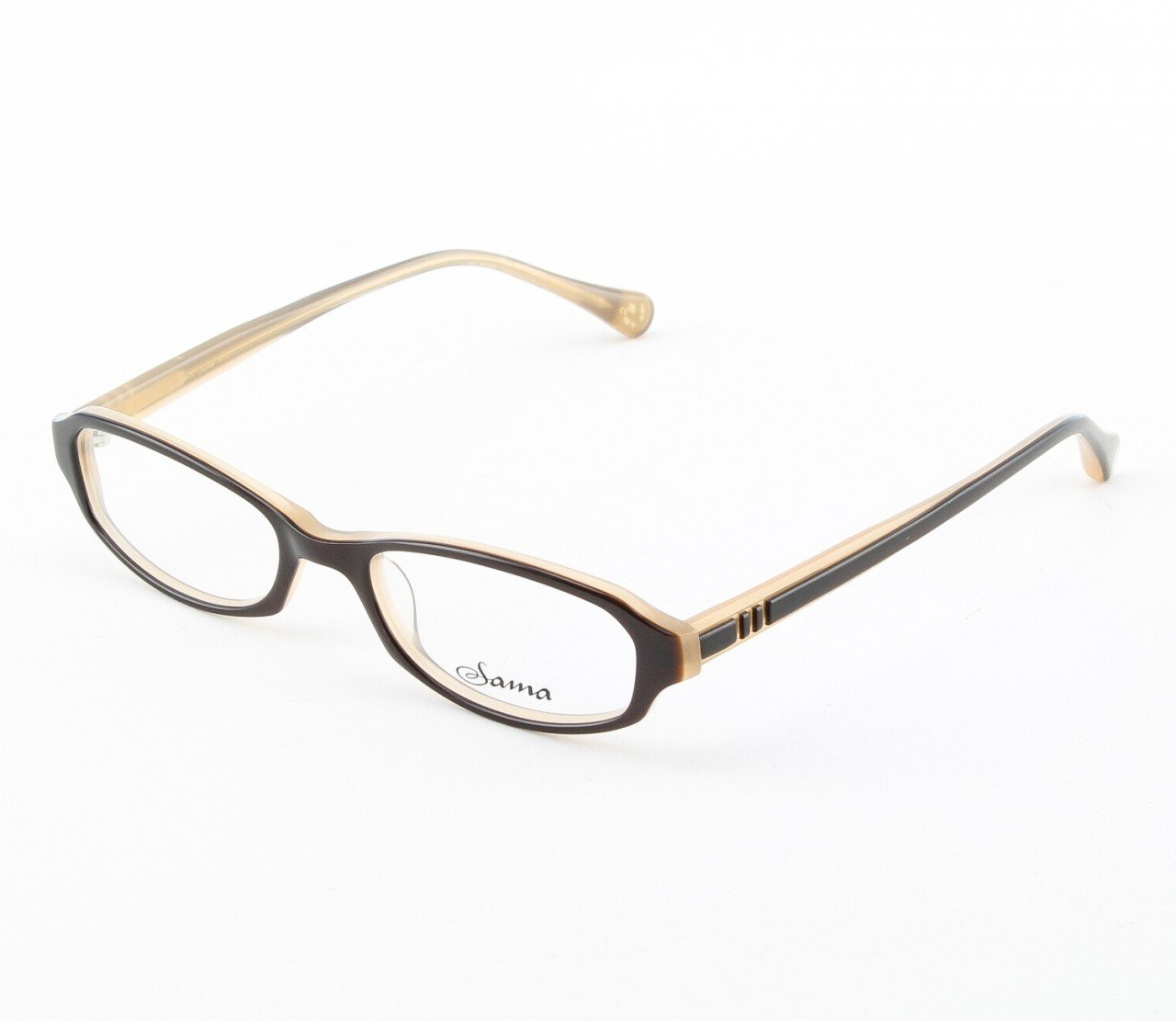 Loree Rodkin Courtney Eyeglasses by Sama Col. Brown with Clear Lenses