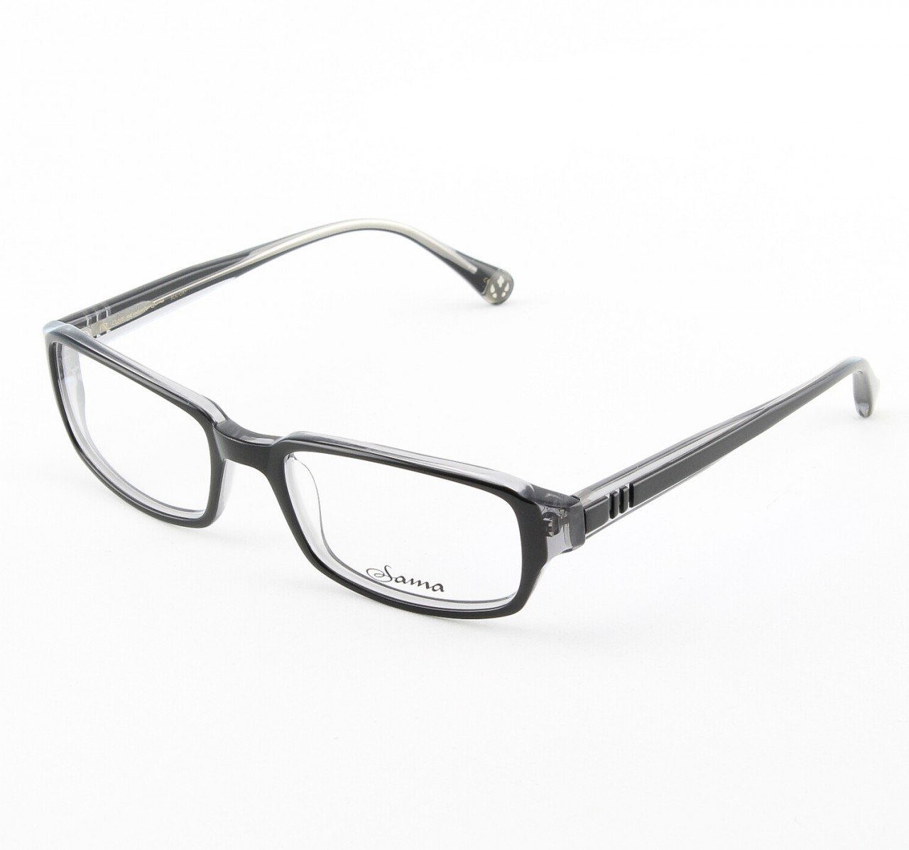 Loree Rodkin Clive Eyeglasses by Sama Col. Black and Gray with Clear Lenses