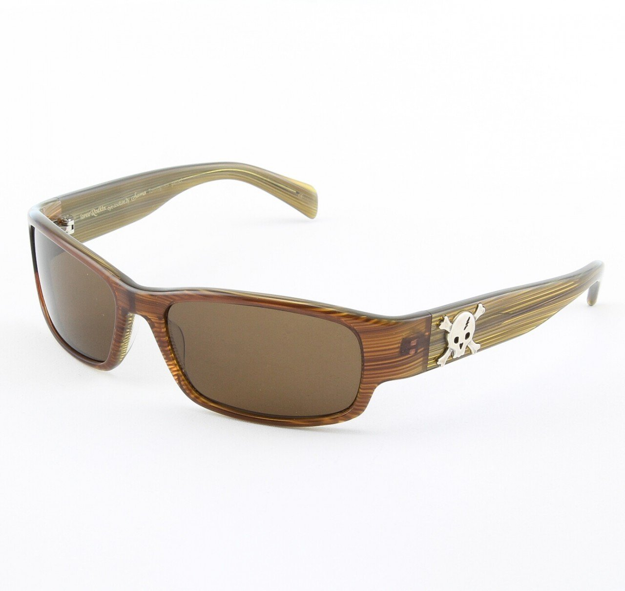 Loree Rodkin Tommy-MX Sunglasses by Sama Col. Garnet with Brown Lenses and Sterling Silver