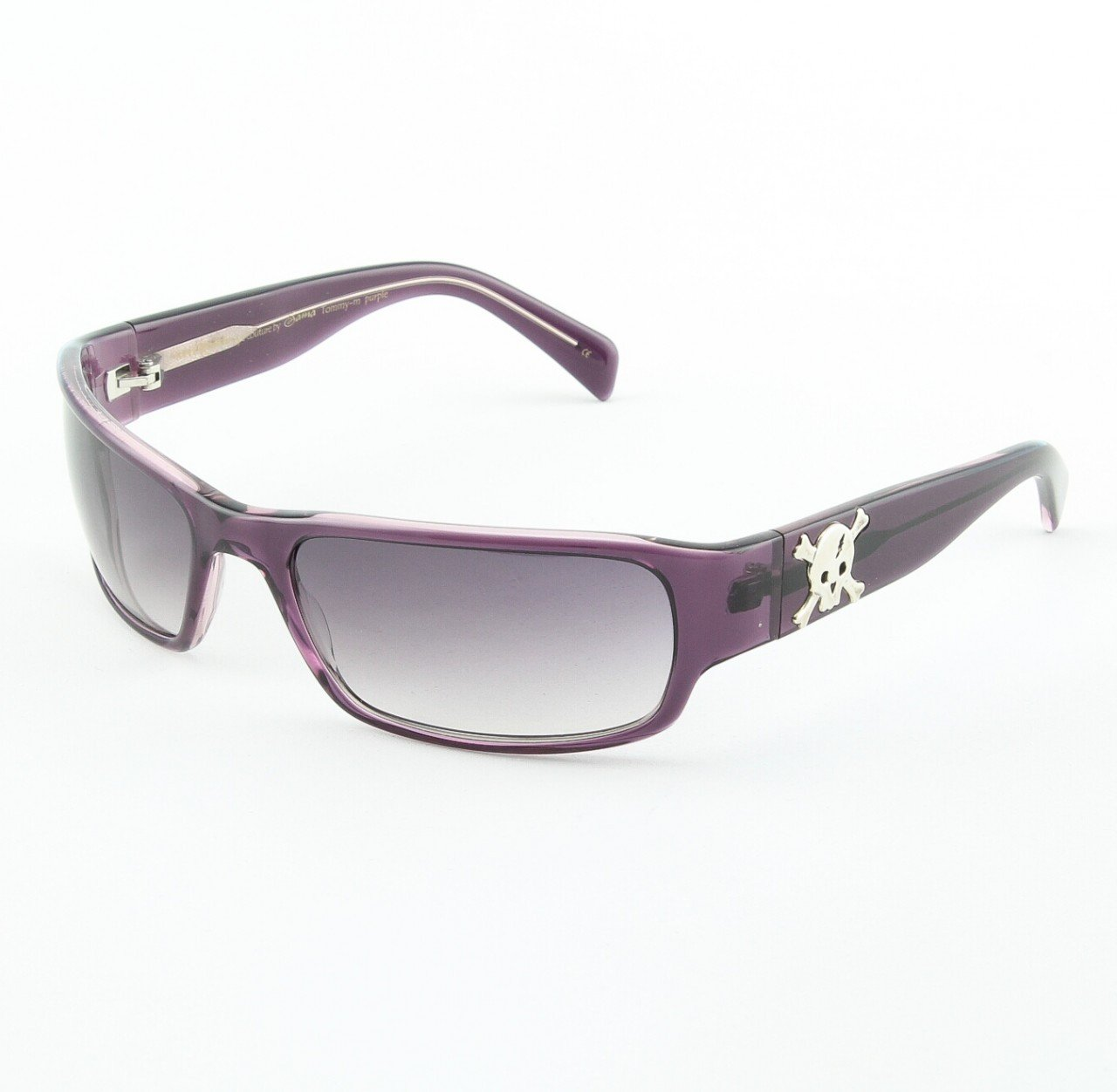Loree Rodkin Tommy-M Sunglasses by Sama Col. Purple with Gray Gradient Lenses and Sterling Silver