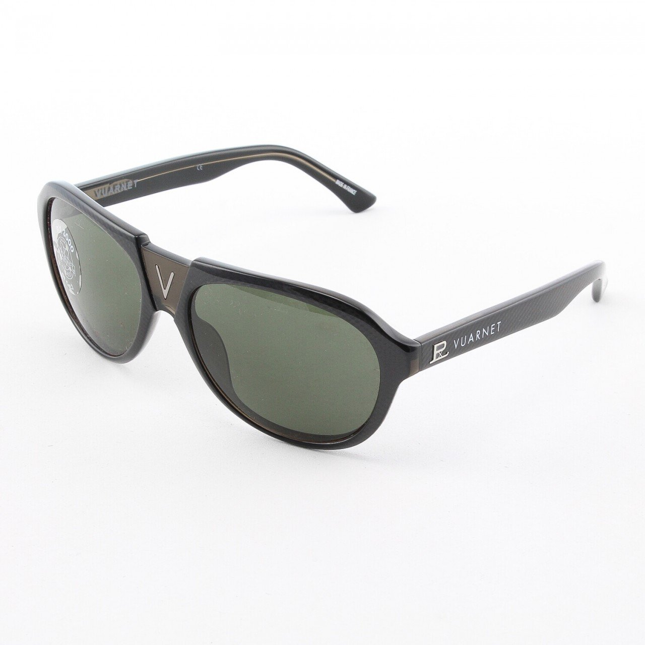 Vuarnet VL 1106 Sunglasses Col. P00P 1121 Black and Brown with Gray PX3000 Lenses