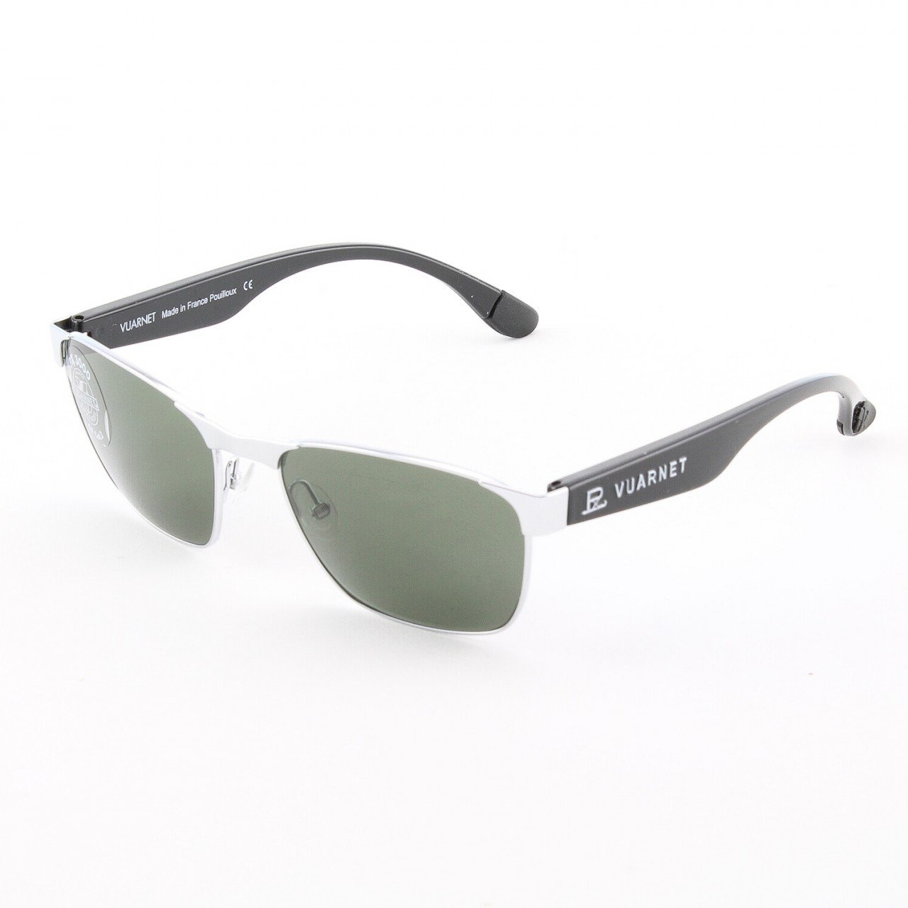 Vuarnet VL 1055 Sunglasses Col. 0003 1121 SIlver and Black with Grey PX3000 Lenses