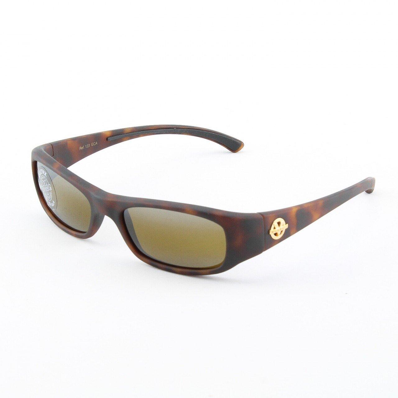 VUARNET 4123 ECA Sunglasses Col. Dark Havana with Brown Skilynx Lenses