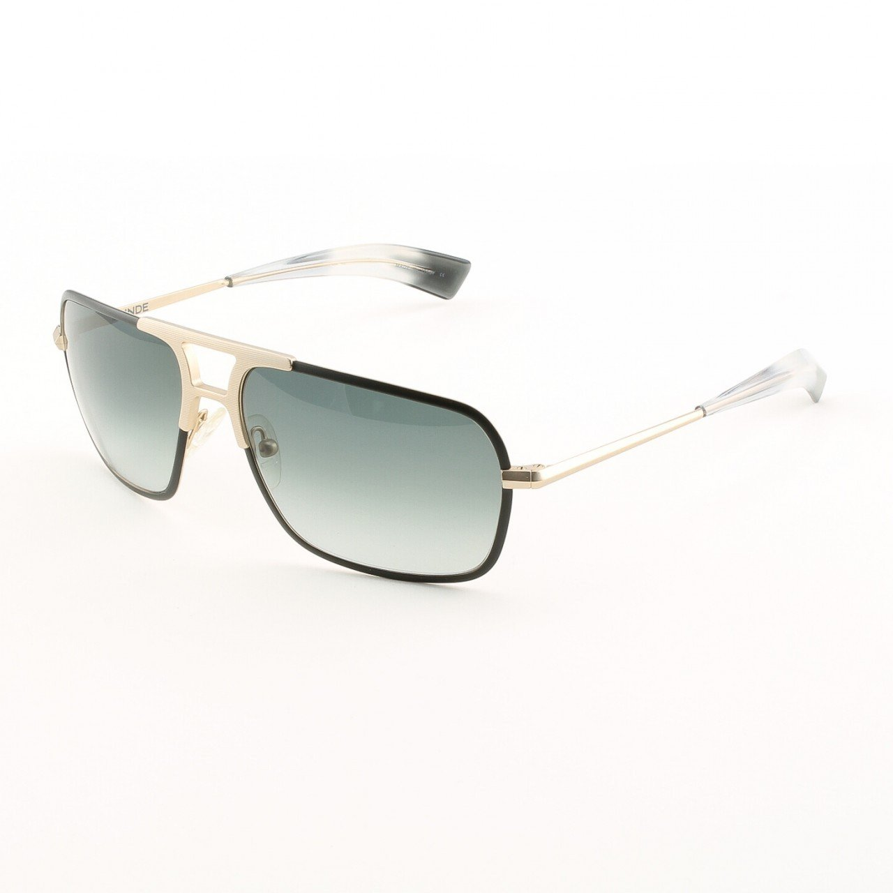 Blinde The Dean Unisex Sunglasses Col. Matte Black and Gold with Grey Gradient Lenses