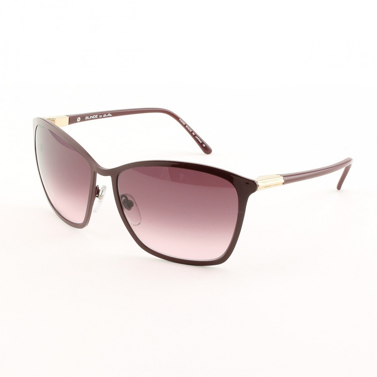 Blinde Ta Da Women's Cat Eye Sunglasses Col. Burgundy with Pink Gradient Lenses