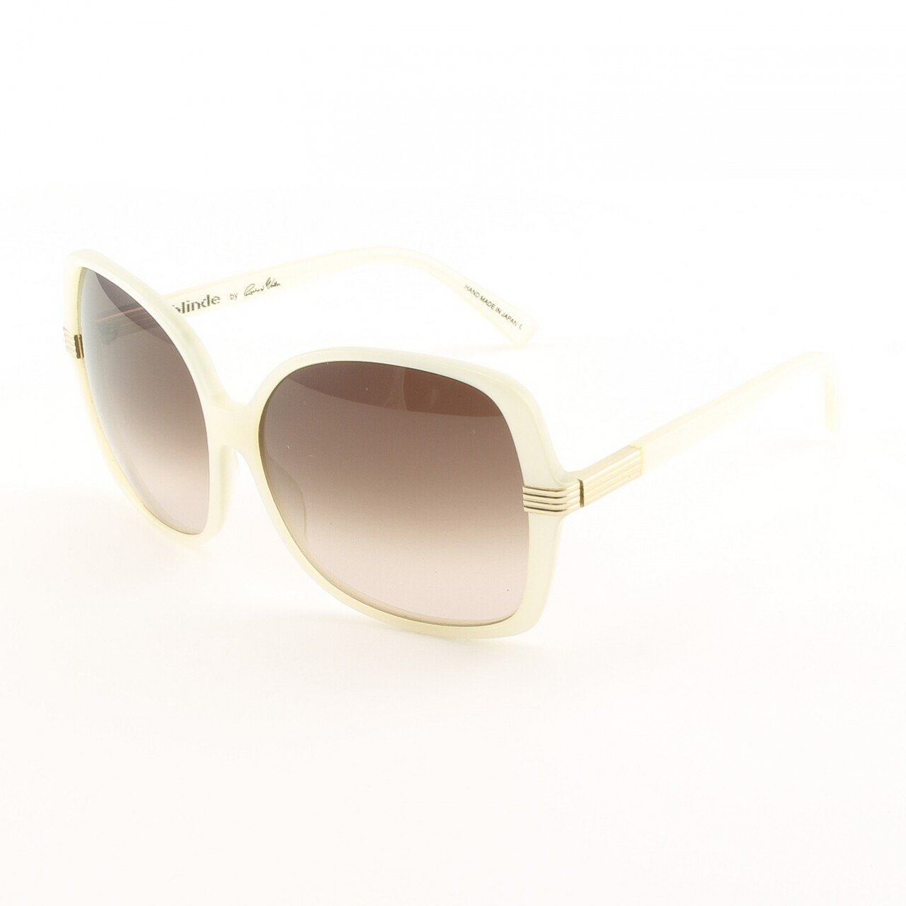 Blinde Swing Set Women's Sunglasses Col. White Pearl with Brown Gradient Lenses