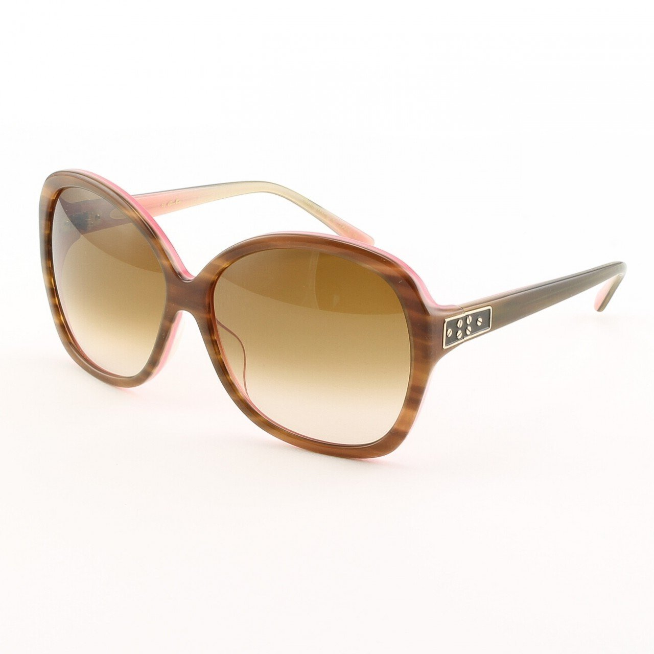 Blinde Now Where Were We Women's Sunglasses Col. Tortoise Flamingo with Brown Gradient Lenses