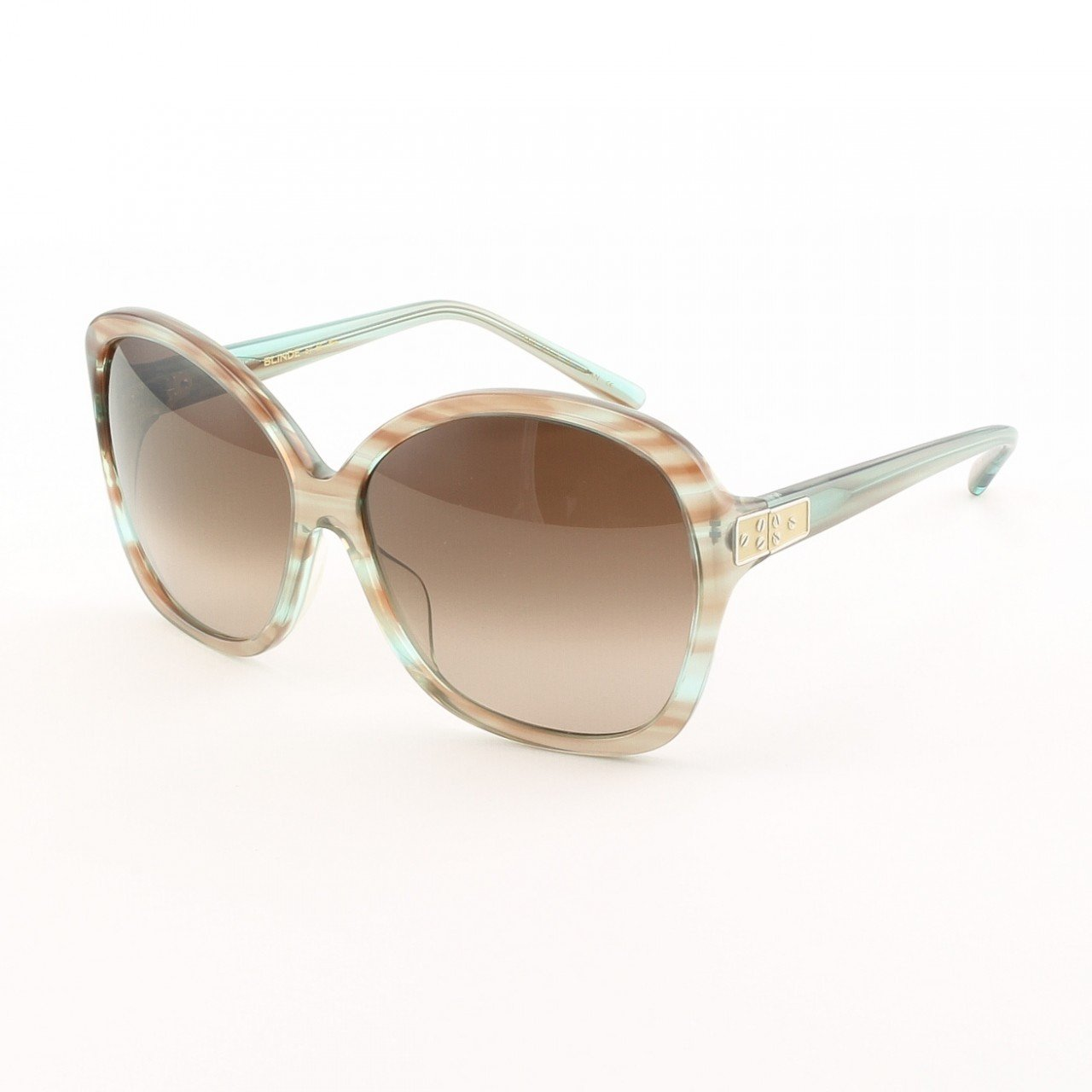 Blinde Now Where Were We Women's Sunglasses Col. Blue Crystal Tortoise with Brown Gradient Lenses