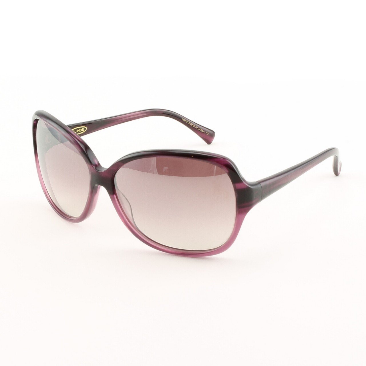 Blinde Now Behave Women's Sunglasses Col. Purple Striped Tortoise with Pink Gradient Lenses