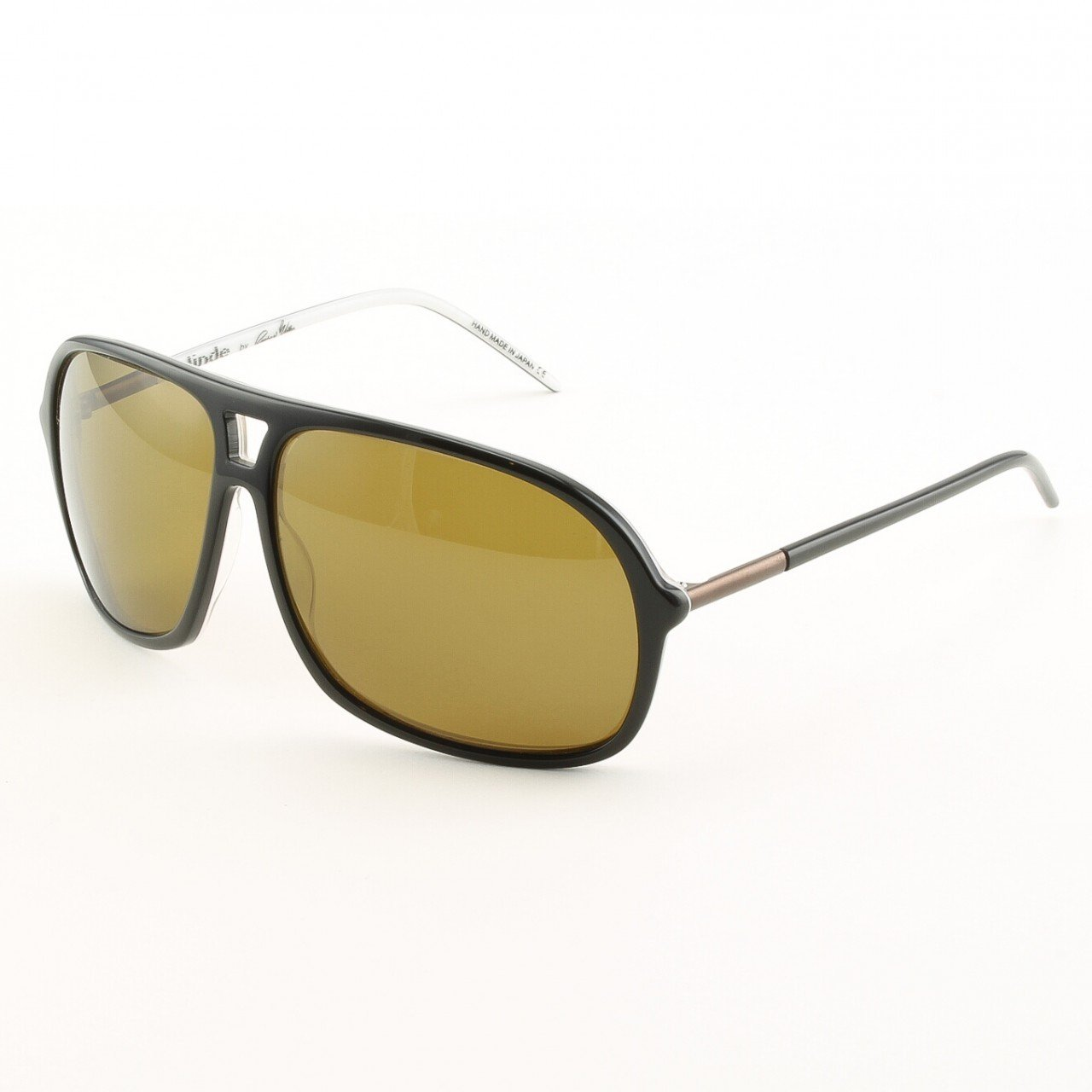 Blinde Lights Out Unisex Sunglasses Col. Almost Oreo Black with Brown Lenses
