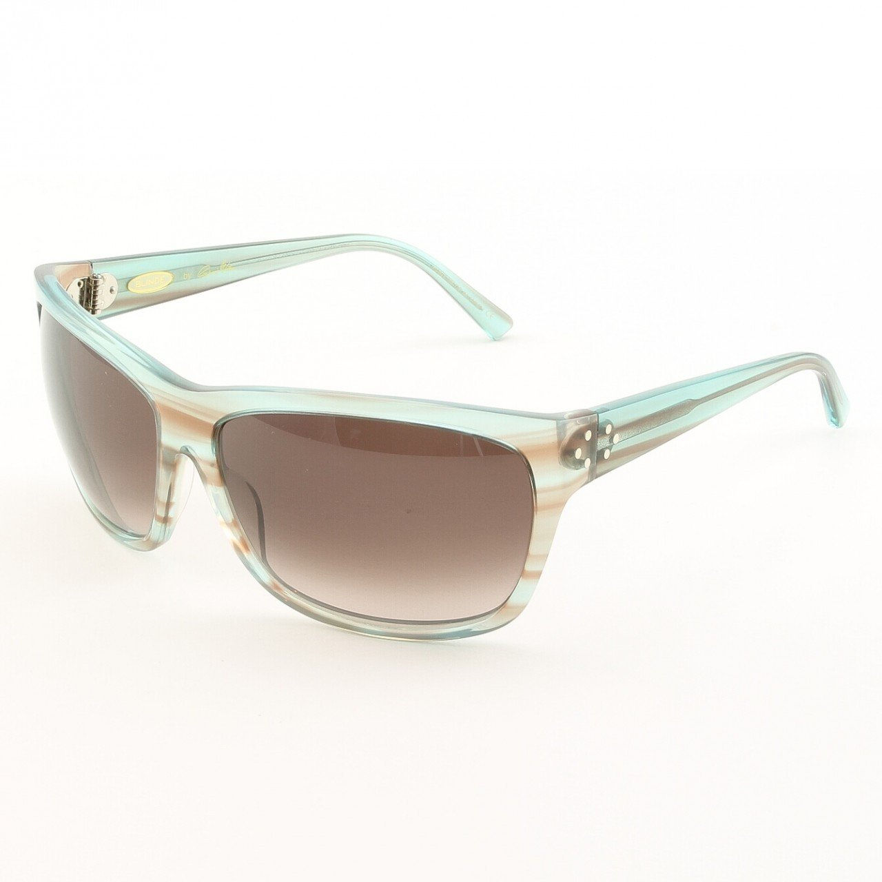 Blinde I Want Candy Women's Sunglasses Col. Blue Crystal Tortoise with Purple Gradient Lenses
