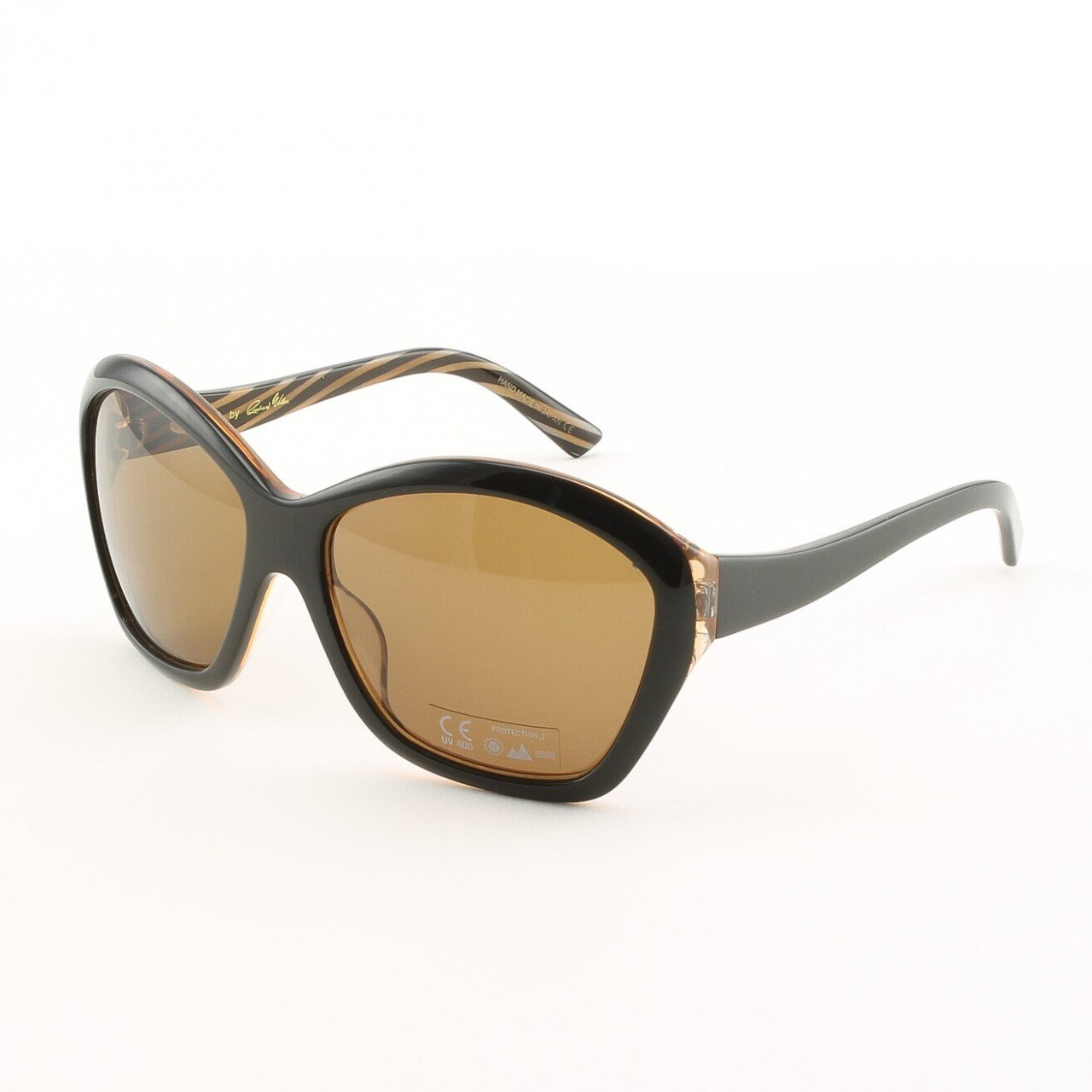 Blinde Born Lucky Women's Sunglasses Col. Brown Zebra with Brown Lenses