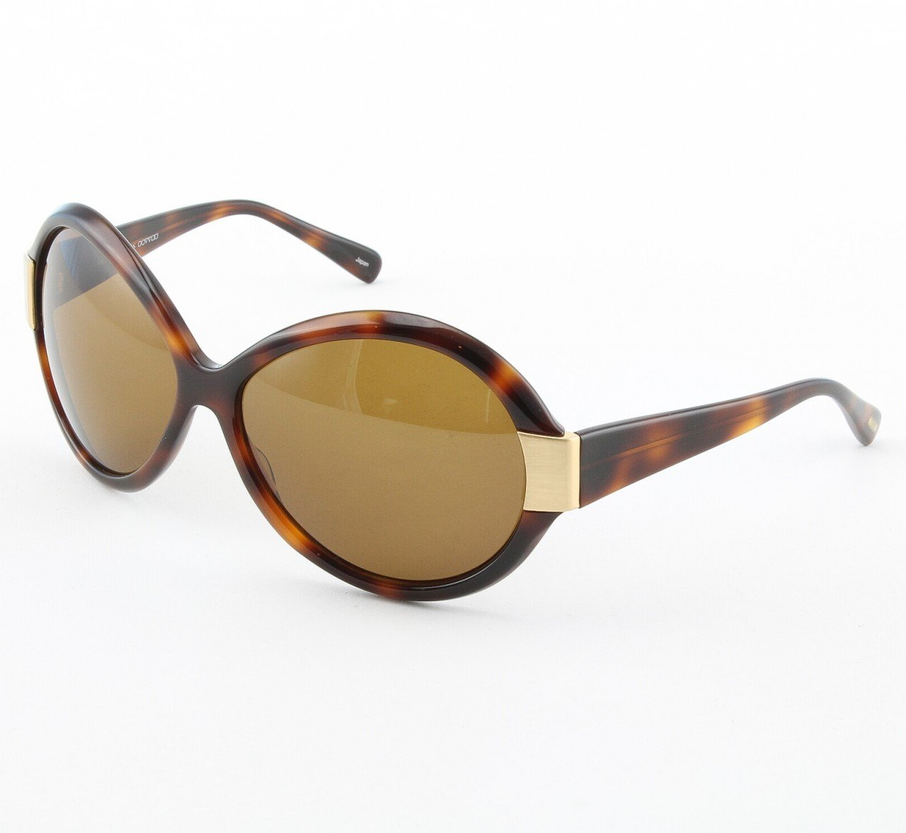 Oliver Peoples Zip Harlot Sunglasses Col. DM-PBR Tortoise Brown with Brown Gradient Lenses