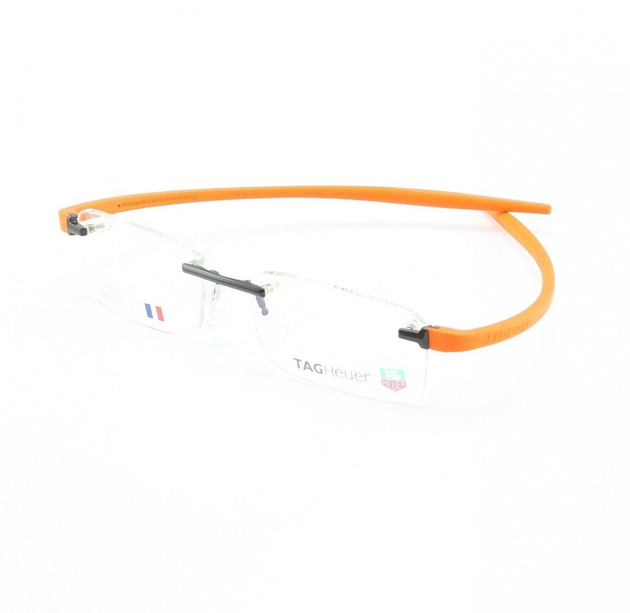 TAG Heuer Uni Men's Eyeglasses Col. 022 Chocolate Orange with Clear Lenses