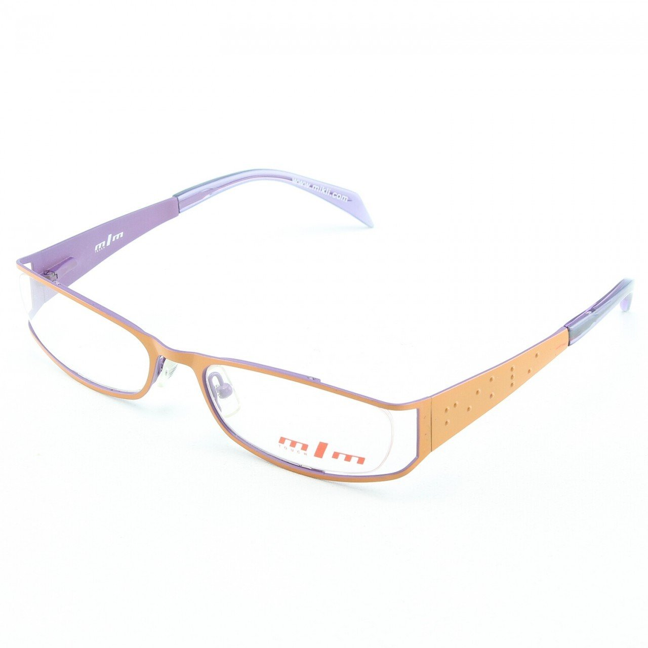 Alain Mikli Eyeglasses 660 02 Orange Lavander with Clear Lenses
