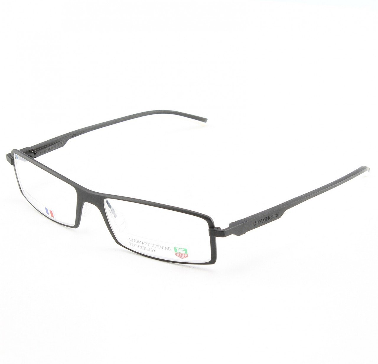 TAG Heuer 802 Uni Eyeglasses Col. 11 Black and White with Clear Lenses
