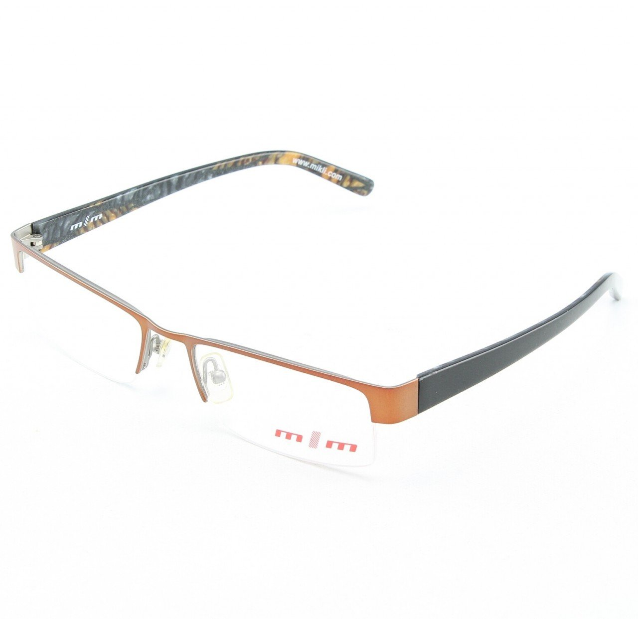 Alain Mikli Eyeglasses 623 05 Bronze Black with Clear Lenses
