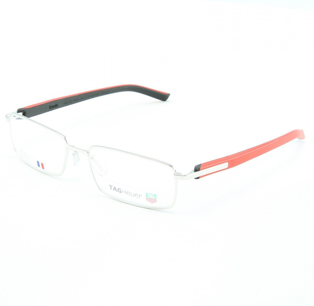 TAG Heuer 8005 Men's Eyeglasses Col. 005 Brushed Black Red with Clear Lenses