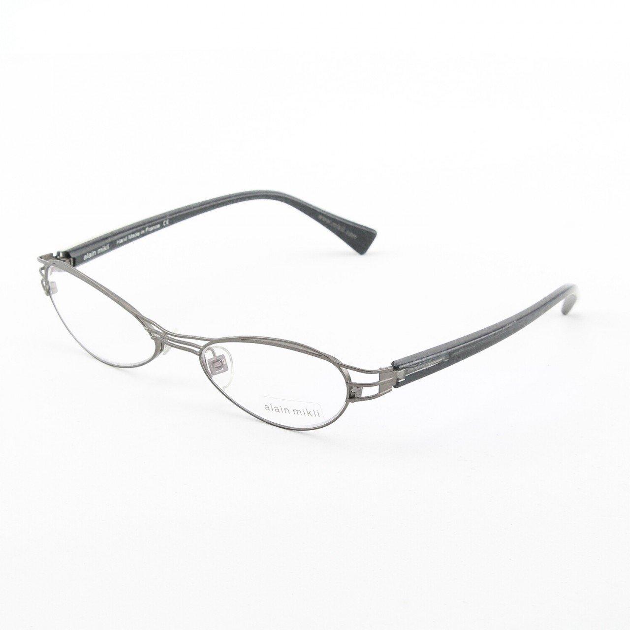 Alain Mikli Eyeglasses AL1112 Col. 6 Gunmetal Gray with Black Iridescent Temples