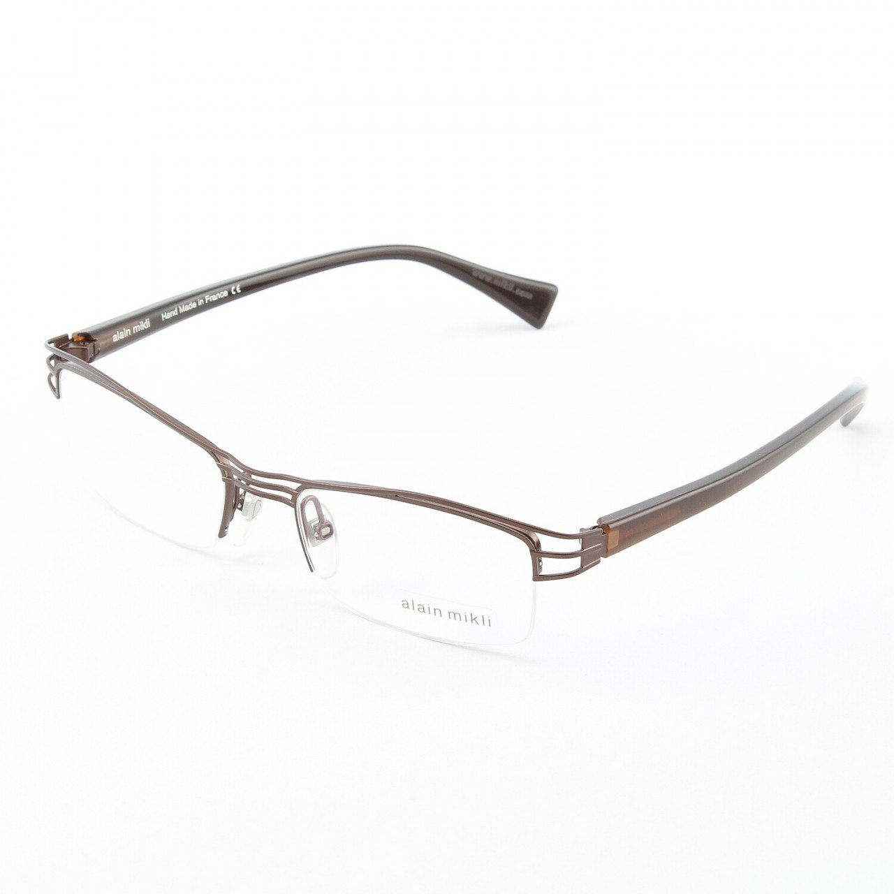 Alain Mikli Eyeglasses AL1111 Col. 2 Copper with Chocolate Brown Temples