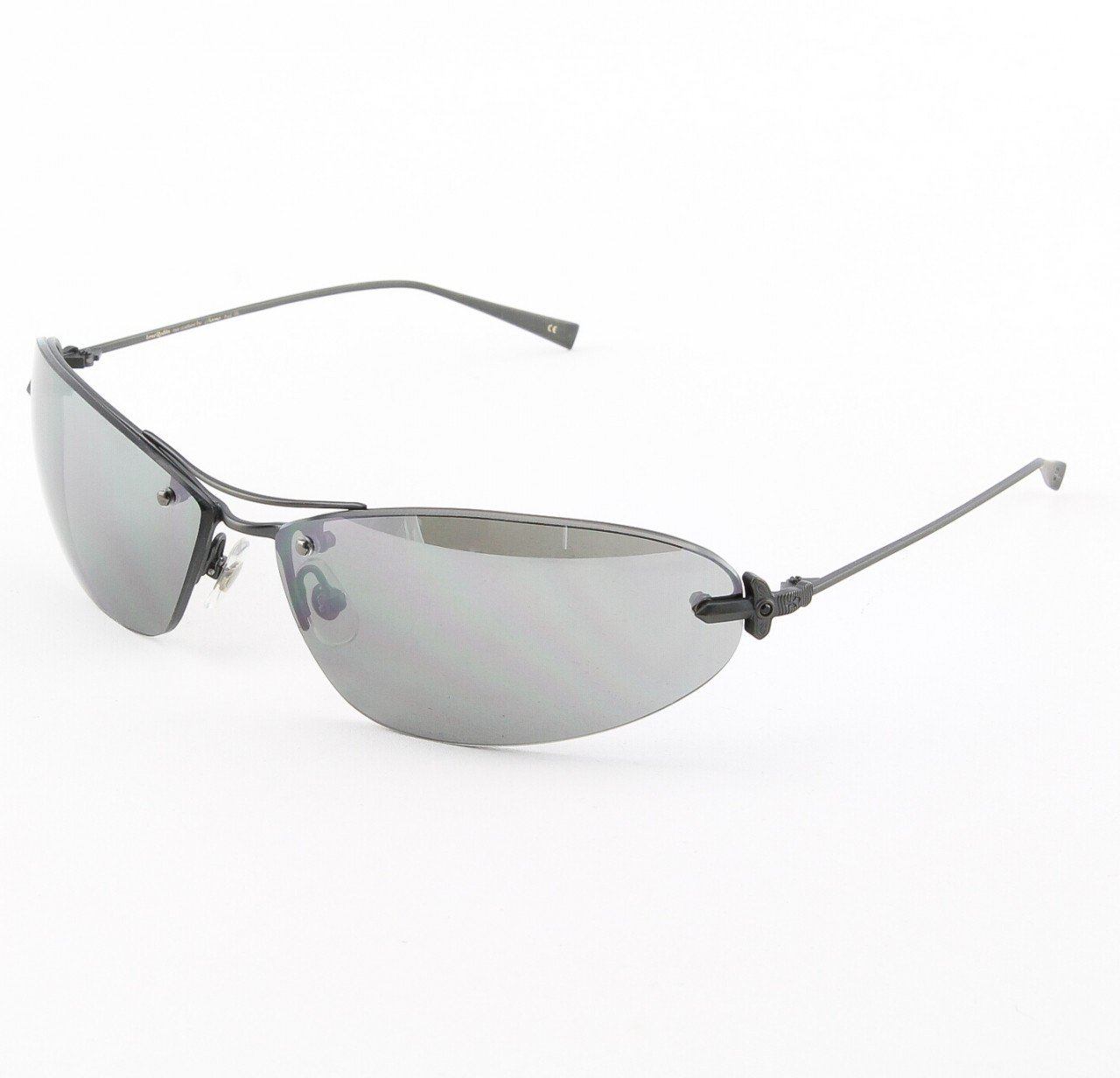 Loree Rodkin Brad Sunglasses by Sama Col. Black with Gray Lenses and Swarovski Crystals